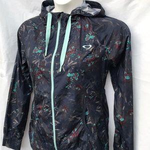 Oakley ladies zipped hooded windbreaker jacket Sm